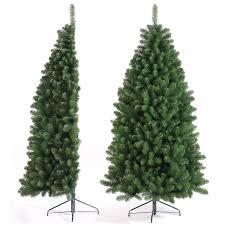 half christmas tree tree classics 2 1m 7ft green half tree artificial christmas tree