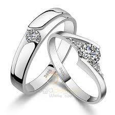 cincin emas putih sepasang cincin emas putih dengan berlian cincindepok cincin