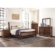 Bed With Attached Nightstands Bed Frame With Attached Nightstands In Gallery Twotone Modern