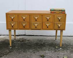 Library File Cabinet Library Card Catalog Etsy