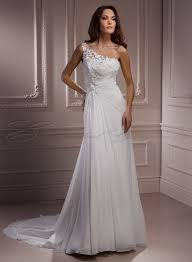 one shoulder wedding dress column chiffon overlay bodice one shoulder wedding dress chiffon