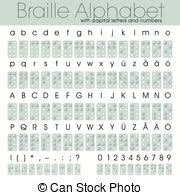 Writing System For The Blind Vector Clipart Of Braille Alphabet And Numbers A Tactile Writing