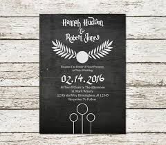 harry potter wedding invitations harry potter wedding invitation chalkboard printable sci fi