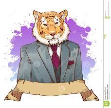 realistic cartoon tiger wearing a tuxedo stock photography image