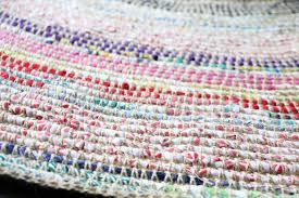 Diy Rug Coil Crochet Scrap Fabric Rug Diy My Poppet Makes