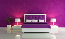 Fashion Bedroom Bright Interior Design Of Modern Pink Living Room Stock Images