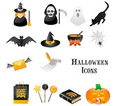 halloween ornament icons vector material 03 holidays icons