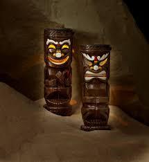 Tiki Solar Lights by Garden Oasis 2ct Tall Solar Friki Tiki Statues Color Outdoor