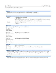 Sample Resume Format For Jobs Abroad by Resume Template Free Microsoft Word Format In Ms With Regard To