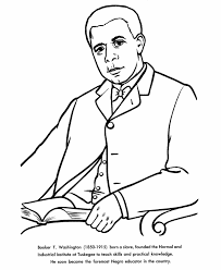 usa printables booker t washington coloring pages famous