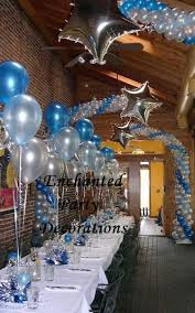 blue silver birthday decorations image inspiration of cake and