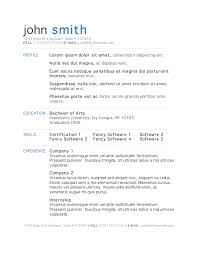 exle of an resume 50 free microsoft word resume templates for