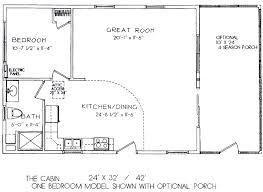 one room cabin floor plans one bedroom model 24 x 32 view floor plan 16 x 32 cabin
