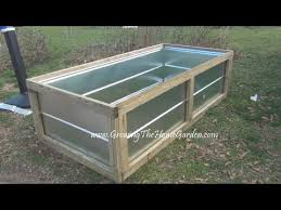 building a metal raised bed for the vegetable garden video wmv