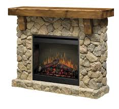 dimplex fieldstone look pine and electric fireplace mantel