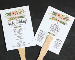Fan Wedding Program Kits Wedding Programs Design Pacq Co