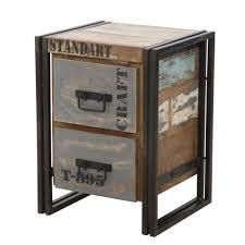 comodini in stile comodino cassettiera 2 cassetti vintage stile industriale in ferro