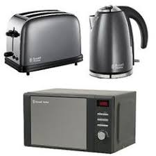 Toaster And Kettle Set Red Swan Kitchen Appliance Retro Set Red Manual Microwave 2l