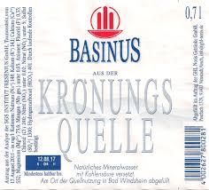 Basinus Bad Flaschen Etikette Europa Mitteleuropa Deutschland Bayern