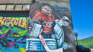 painting the town red white and blue painted during the canadiens run to the eastern conference final in 2014 this two storey carey price mural produced in collaboration by the a shop and k64