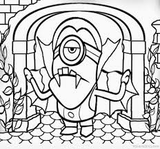 evil minion coloring pages vampire costume style kids