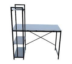 bureau noir verre bureau en verre booky noir bureaux but