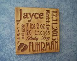 baby plaques personalized baby birth sign etsy