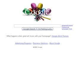 new google homepage design igoogle artist themes livens up google home