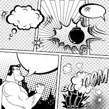 vector retro comic book speech bubbles illustration mock up of
