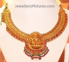 antique necklace images Antique lakshmi devi necklace jewellery designs jpg