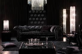 chambre baroque noir et decoration chambre baroque moderne