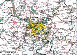 Map Of Pennsylvania Cities by Pittsburgh Map Pittsburgh City Map