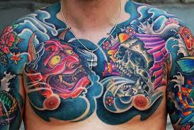 15 striking japanese chest tattoos tattoodo