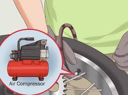 how to change a motorcycle tire with pictures wikihow