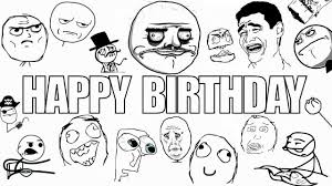 Meme Face Happy - happy birthday ragefaces style youtube