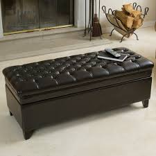 christopher knight home hastings tufted fabric ottoman bench hastings tufted espresso bonded leather storage ottoman by