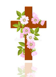 cross with flowers stock vector illustration of floral 25091214