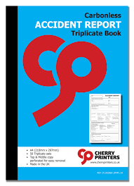 accident reporting book report a4 3part