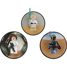 lego luke skywalker princess leia and boba fett magnets 5002825