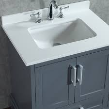 ace 30 inch single whale grey bathroom vanity set with mirror