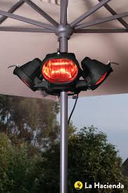 electric infrared patio heater heatmaster u3r20 2 0kw popular umbrella mount infrared heater