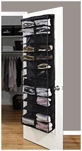amazon com simplify 26 pocket over the door shoe organizer black