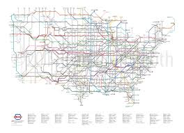 Amsterdam Metro Map by U S Routes As A Subway Map U2013 Large Cameron Booth
