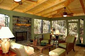 Screen Porch Fireplace by 12 Beautiful Screened In Porch Designs To Use For Inspiration And