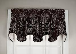 floating leaves curtain collection woven leaf print window toppers