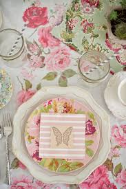 Tea Party Table by Domestic Fashionista Fairy Garden Tea Party Tablescape