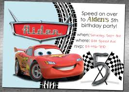 Birthday Invitation E Card Disney Cars Birthday Invitations Templates