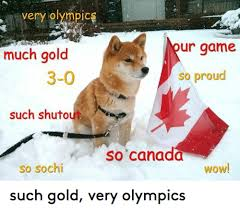 Sochi Meme - very olympic much gold 3 0 such shutout so sochi our game so proud