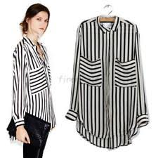 black and white striped blouse black and white striped shirt ebay