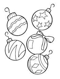 Christmas Ornament Coloring Pages Vitlt Com Tree Coloring Pages Ornaments